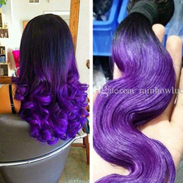 Canada purple hair extension weave supply purple hair extension ombre purple weaves brazillian unprocessed body wave human hair weft 1b purple color hair extensions 3pcs pmusecretfo Images