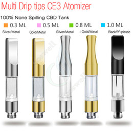 Wholesale Metal Cartomizer Tank - Top CE3 BUD Touch 510 Cartridges Metal plastic drip tips WAX Thick Oil Vaporizer Atomizers O Pen vapor Mini cartomizer e cigarette vape Tank