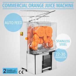Máquinas de alimentación online-Eléctrico Comercial Auto Feed Orange Lemon Exprimidor Juicer Machine