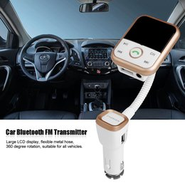 Wholesale Bluetooth Car Control - Wholesale-Mini Car LCD Bluetooth FM Transmitter BT67 MP3 Music Player Audio Stereo Radio Modulator Kit TF USB 2.1A with Remote Control