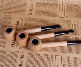 Wholesale Hammer Solids - New vigorous sailor solid wood round bottom filter mini small pipe man hammer straight straight cigarette holder