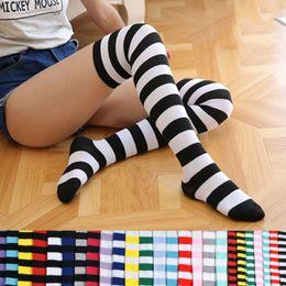 Wholesale Thigh Socks For Women - 2017 Striped Knee High Socks for Girls Japanese Style Thigh High Socks Sweet Spring & Summer Stockings Girl 13 Colors