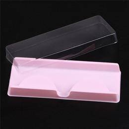 Wholesale packing trays - Packing box for eyelash blank eyelashes plastic packaging transparent lid pink tray 204521 wholesales(500sets lot)Free Shipping