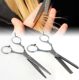 Amincissement des dents en ciseaux en Ligne-Salon professionnel coiffeur cheveux coupe amincissement des dents ciseaux cisailles coiffure ciseaux de cheveux Styling outils CCA6828 100 pcs