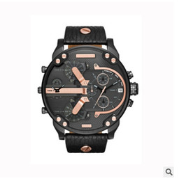 Wholesale Dress Displays - 2017 Sport Mens Watches Big Dial Display Top Brand Luxury watch Quartz Watch Steel Band 7333 Fashion Wristwatches For Men Free Shipping