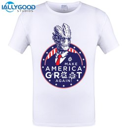 Wholesale Galaxy Print T Shirts - 2017 Fashion Men T-Shirt Movie Guardians Of The Galaxy I Am President! Print T Shirt Modal Cotton Clothes Casual Short Tops Tees
