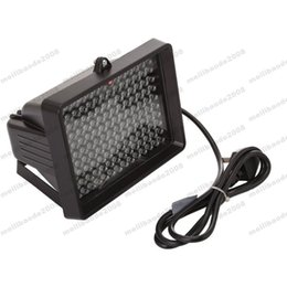 Wholesale Ir Led Light Illuminator - IR Infrared 140 LED illuminator Flood light Night lamp Adapter Security Monitor free shipping MYY