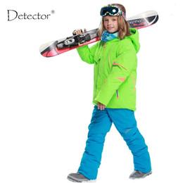 Wholesale girls waterproof windproof pants - kids clothes winter ski suit windproof 5000ski jackets+pant kids' winter snow girls clothes boys clothes outdoor -20-30 degree