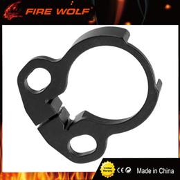 Tampon de tube en Ligne-FIRE WOLF Adaptateur de tube tampon noir ambidextre avec une clé Allen Clamp-on Single Point Sling Attachement Livraison gratuite