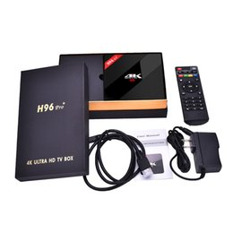 Wholesale internet tv android - H96 Pro Plus 2GB 16GB TV Box Amlogic S912 Octa Core Android 7.1 KD 17.4 Smart Boxes 2.4G 5.8GHz Wifi HDMI 4K Internet Media Player S10 T95R