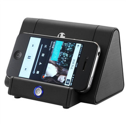 Wholesale Mp3 Player Holder - Wireless Bluetooth speaker with mobile phone holder portable speaker for samsung s8 eage iphone 7 8 plus