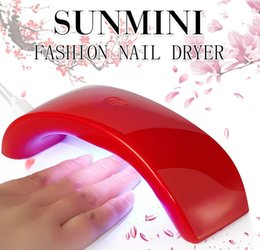 Wholesale Led Gel Curing Lamp - Wholesale- 4 Colors 12W Quick-Dry LED UV Nail Dryer,Portable Mini Rainbow Shaped USB LED Lamp Nail Dryer Curing For UV Gel