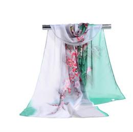 Canada Usine En Gros Womon Marque De Luxe Fleur Imprimer Écharpe Encre Paiting Motif Foulards Sarongs Plage De Mode Écharpe 160 * 50 cm arabe hijab Offre