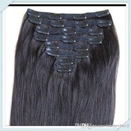 Wholesale Diy Hair Weft - DIY Muse Hair Dyable Clip In On Silky Straight remi Human Hair #1B 4Layer Lace Thickest Healthy Hair Weft Free Ship Direct Sell