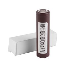Wholesale E Cig Adjustable - 100% High Quality HG2 18650 Battery 3000mAh 3.7V 35A Rechargable Lithium LG Batteries Cell For E Cig Box Mod Fedex