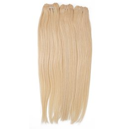 Wholesale Silky Straight Remy Blonde Weave - Silk Silky Straight Hair Extension Remy Human Hair Weave 613 Blonde Soft Smooth Brazilian Virgin Hair Bundles New Arrival Queenlike 9A