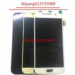 Samsung Galaxy S6 G920 G920f için dokunmatik ekran digitizer meclisi ile orijinal LCD ekran nereden galaxy s6 göster tedarikçiler