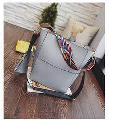 Wholesale Women Handbag Crossbody Strap - Luxury Brand Designer Bucket bag Women Leather Wide Strap Shoulder bag Handbag Large Capacity Crossbody bag Color 4