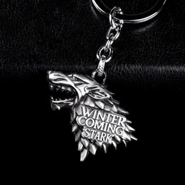 Wholesale Ring Games - Brand New Fashion Anime Game of Thrones Keychain For Men Trinket Portachiavi Car Keyring Key Chain Ring Chaveiro Male Jewelry Gift Souvenirs