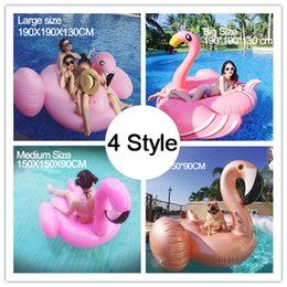 Wholesale Gold Pool - 200cm Giant Inflatable Flamingo Pool Beach Float Pink Rose Gold Ride-On Swimming Ring Adults Children Water Holiday Party Toys 78 inch