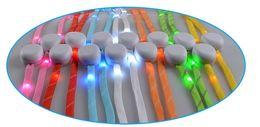 Wholesale Skate Parts - 100pcs (50 pairs) LED Nylon Shoelaces Shoe Laces Flash Light Up Glow Stick Strap Shoelaces Disco Party Skating Sports Glow Stick Shoe Parts
