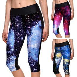 Wholesale Galaxy Style Leggings - Good A++ New Star Digital Print Galaxy Purple Sexy Sexy Pants Yoga Sports Leggings LW046 Women's Leggings