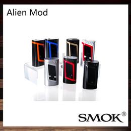 Wholesale Vw Display - SMOK Alien TC MOD 220W Box Mod Firmware Upgradable Big OLED Display VW TC Mod Best Match TFV8 Baby Tank 100% Original