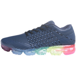 Wholesale Big Size Women - PU VaporMax 2018 Men Running shoes For mens Sneakers PVC Women Sport Shoe Big US 13 size Eur 47
