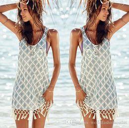 ed11a53cddf94 Fashion Swimwear Cover-Ups Summer Dress bikini swimsuit cover up Beach  blouse Shirts Sexy Women Bathing Suit Tassel Crochet Vest Free DHL