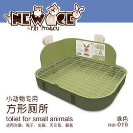 Wholesale Pig Tray - Pet Hygiene Supplies Small Animal Products Cage Corner Large Size Toilet Litter Tray Litter Box For Rabbit Guinea Pig Chinchilla