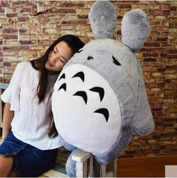 Wholesale Totoro Baby Pillow - New Cute 100cm Drowsy Totoro Plush Toy Large 39'' Stuffed Soft Japan Anime Totoro Pillow Doll Baby Present
