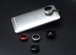 Wholesale Mini Fish Eye - Wholesale- Metal Ring Clip Mobile Phone Lens Fish eye wide angle Lens micro lens For ZTE nubia Z11 mini S,Blade V7 Max