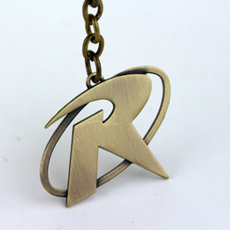 Wholesale Mark Batman - Wholesale Batman Robin R Mark Logo Keychain Metal Key Chain Pendant Keyring Key Ring