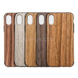 Wholesale Natural Wood Iphone Case - Wood Cover Luxury Mobile Phone Case for iphone X natural Original Design Shockproof Protective Back Cover