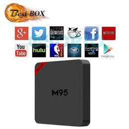 Wholesale Allwinner Android Box - 1 PCS 2017 New Smart Android Boxes MINI M95 Allwinner H2 Octa Core 1G+8G Android4.4 OTT TV Box Wifi V88 4K Smart Tv Box Media Player X96