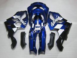 Wholesale Kawasaki Ninja Zx6r 96 - High quality plastic fairing kit for Kawasaki Ninja ZX6R 1994-1997 deep blue fairings set ZX6R 94 95 96 97 OT06
