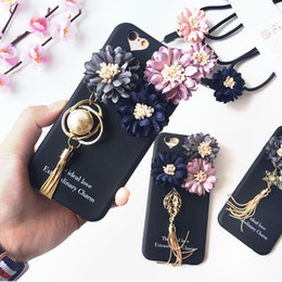 Wholesale Iphone Case Three Dimensional - Lainergie Case For iPhone 7 7 Plus Luxury 3D Three-dimensional Chrysanthemum Tassel Silicon Phone Case Cover Capa