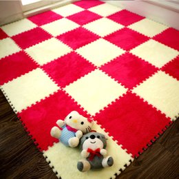 Wholesale Toilet Carpets - Novel carpet DIY free Combination Non Slip Suede Mat PVC material Waterproof non Slip Floor Mat Toilet Kitchen