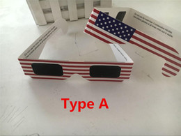 Wholesale Disposable Paper Glass - 10pcs lot Ownest Solar Eclipse Glasses 2017 Galaxy Edition CE and ISO Standard Viewing Protect Eyes From Watching Solar Eclipse