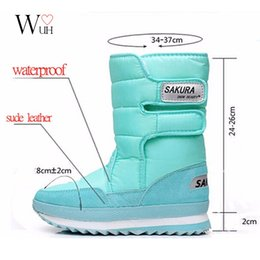 Wholesale White Color Boots - Wholesale-Women snow boots winter Non-slip weatherproof Leisure Various color free shipping 2016 hot sale
