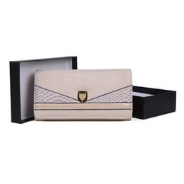 2019 scatola elegante del regalo del regalo Moda Elegante Lady Pochette Portafogli Titolari Confezione regalo Donna Vestito Borsa da cellulare Hasp Carta di credito Confezione Multi-bit Serpentina VKP1480 sconti scatola elegante del regalo del regalo