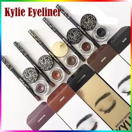 Wholesale Birthday Pencils - KYLIE Eyeliner Kits Make Up Kylie Kyliner Set Brown Black Bronze Kylie Kit Birthday Edition Dark Bronze Set