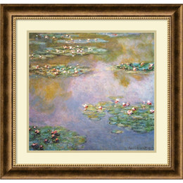 Wholesale Water Lily Paint - Home decoration auction art replica craft wall designs ideas oil painting Water Lilies 1907 by Claude Monet