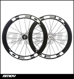 Wholesale Rear Wheel Tracking - 25mm width HED paint 60mm Depth fixed gear carbon wheelset full carbon 700C road track bike bicycle wheelswheels