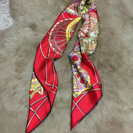 Wholesale Spring Women Scarves - New brand design spring and autumn 100% silk material 90cm*90cm square scarves print LES DOMES CELESTES for women