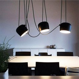 Wholesale Lustre Restaurant - Modern Nordic Aim Pendant Lights White Black Aluminum Pendant Lamp Home Light Fixture Luminaire Bar Restaurant Suspension Lustre