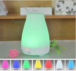 Wholesale Oxygen Bars Wholesale - 100ml Essential Oil Diffuser Portable Aroma Humidifier Diffuser LED Night Light Ultrasonic Cool Mist Fresh Air Free Shipping