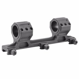 Wholesale Tactical Double Picatinny Rails - Tactical 25mm to 30mm Double Cantilever Heavy Duty Scope Mount fit 20mm Picatinny Rail(ht055)
