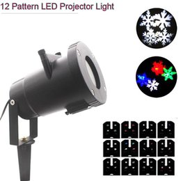 Wholesale Halloween Uk - 12 Pattern LED Pattern Projector Light Outdoor Waterproof Landscape Garden Wall Lamp for Halloween Christmas Holiday