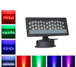 Wholesale Dmx Led Rgb Wall Washer - 2017 LED Wall Washer Waterproof LED Floodlight 36*3W RGB DMX 512 Stage Light Outdoor Light Par lighting LED Wash light Effect lamp 85-265v